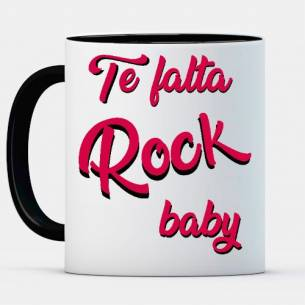 "Estampa ""Te falta rock baby"