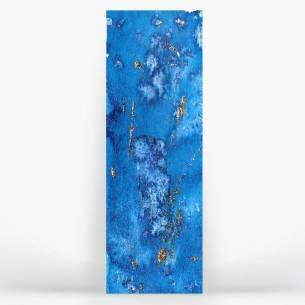 azul turquesa con oro, cielo o mar