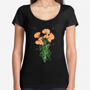 flores silvestres en naranja