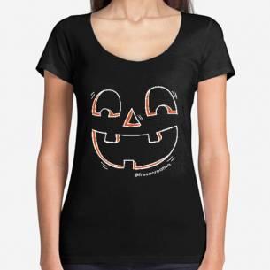 Camiseta Mujer Calabaza Halloween