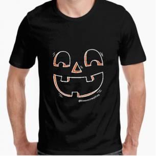 Camiseta Hombre Calabaza Halloween