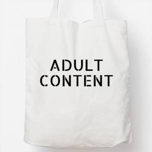 Bolso tote bag adult content