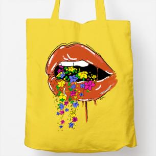 bolsa de tela glossy lips