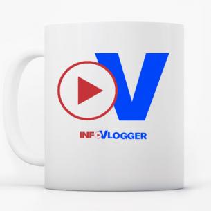 taza logo infovlogger