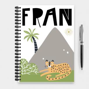 cuaderno tigre en la jungla