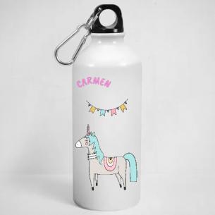 unicornio y guirnalda
