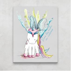 Lienzo Unicornio