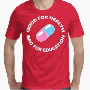 Good for health, bad for education