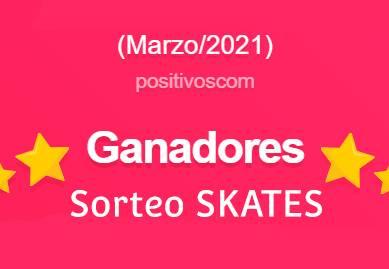 Ganadores el sorteo de tablas Skate (Marzo 2021)